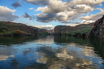 Saguaro Lake in Winter, Arizona