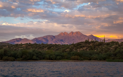 Four Peaks Sunset, Arizona