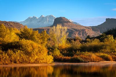 Four Peaks and Saguaro Lake in December, Arizona