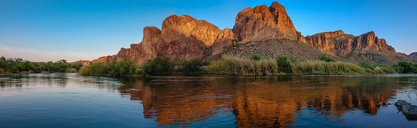 Sunset on the Lower Salt River, Arizona