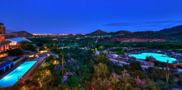 Tucson, Arizona Skyline from JW Marriott Starr Pass Resort