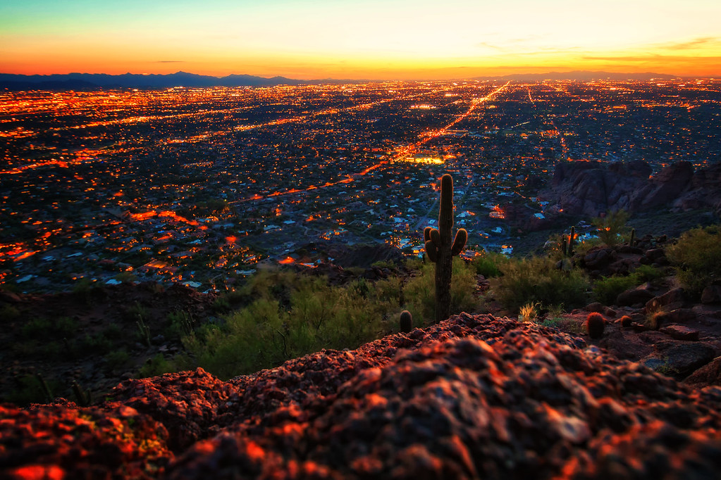 Sunset from Camelback Mountain (Phoenix, Arizona)