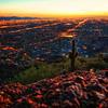 Sunset from Camelback Mountain (Phoenix, Arizona)