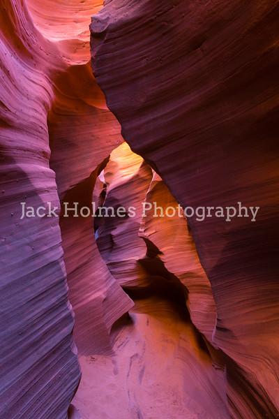 Inside a slot canyon.