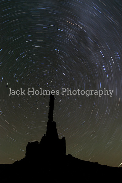 Stars trails around Totem Pole.