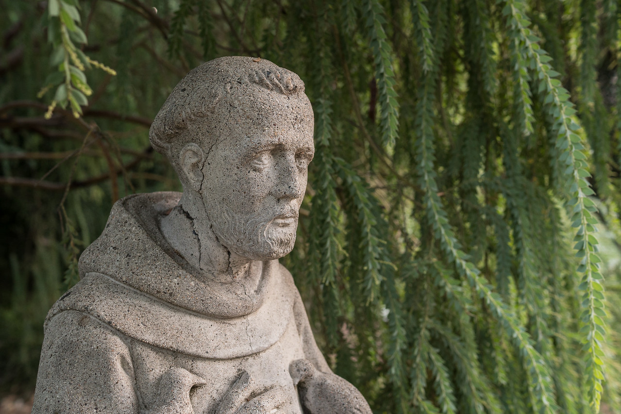 Small statue of St. Francis in Arlington Garden