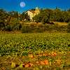 Moonset Over SJB Mission & Pumpkin Harvest
