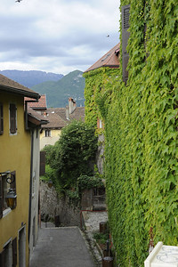 View of streets in Annecy, France