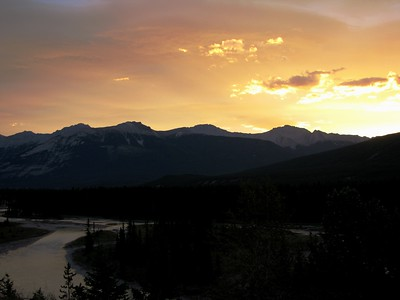 Jasper Sunrise over Athabasca River