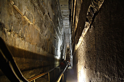 Descent into the Great Pyramid of Giza