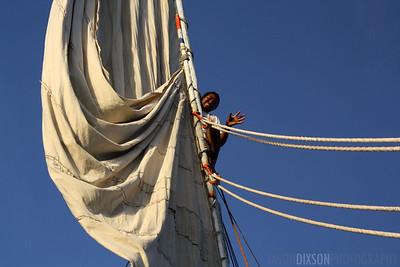 Child Atop a Falucca Mast