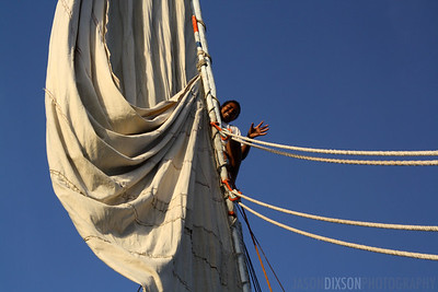 Child Atop a Falucca Mast