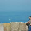 John and Cheryl Spiegelhalter at a point north of the Cliffs of Moher, overlooking the ocean.