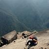 Meg scaling Huayna Picchu