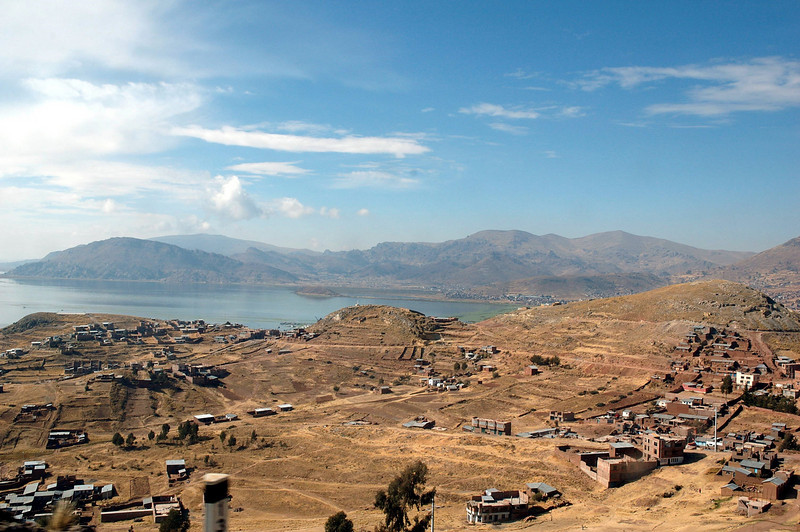 Town of Puno on Lake Titicaca