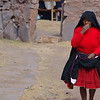 Indigenous woman at Lake Titicaca