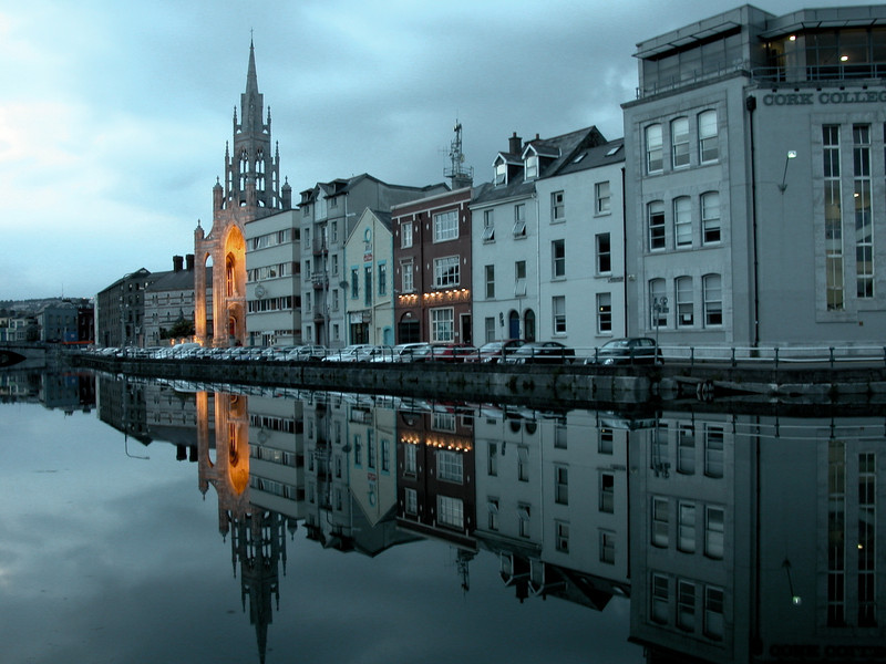 Evening falling on Cork, Ireland