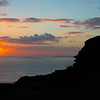 Sunset at the cliffs Moher
