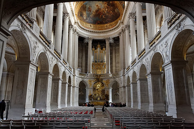 The royal chapel in Versailles, France