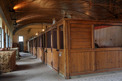 """Haras Nationaux, Tarbes - Haras Nationaux, Tarbes, April 2006 - The Tarbes haras were created in 1806.  It holds about 40 stallions from different breeds including """"anglo-arabe"""", """"comtois"""", and """"trait breton""""."""