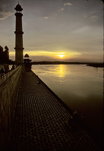 Yamuna river from Taj Mahal - India, 1974