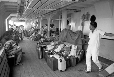 On board the ferry to Sri Lanka - India to Sri Lanka, 1973