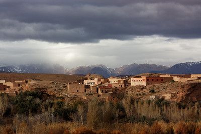 Draa valley (Morocco) with the Atlas in the background - December 2011