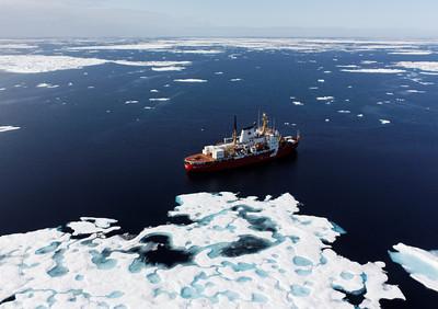 The Amundsen amidst the ice - MALINA cruise, Beaufort Sea, August 2009