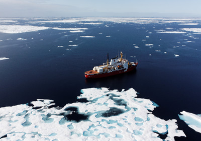 The Amundsen amidst the ice - MALINA cruise, Beaufort Sea, August 2009