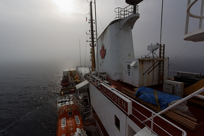 The Amundsen oin the arctic mist - MALINA cruise, Beaufort Sea, August 2009