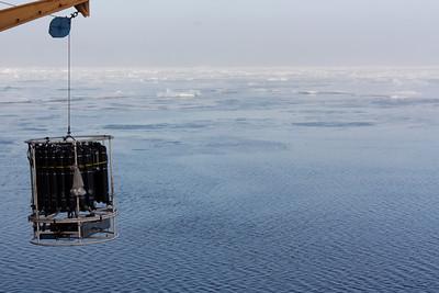 Sampling at the ice edge - MALINA cruise, Beaufort Sea, August 2009
