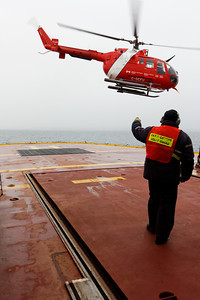 Taking off in the rain - MALINA cruise, Beaufort Sea, August 2009