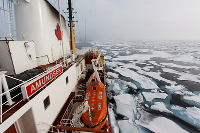 Breaking through the ice - MALINA cruise, Beaufort Sea, August 2009