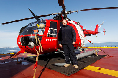 Eric, the helicopter pilot - MALINA cruise, Beaufort Sea, August 2009