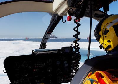 Landed on ice - MALINA cruise, Beaufort Sea, August 2009
