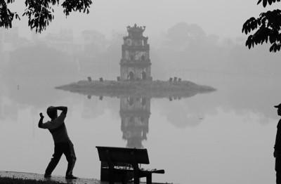 Hoan Kiem silhouettes - Hanoi, Vietnam, 2009