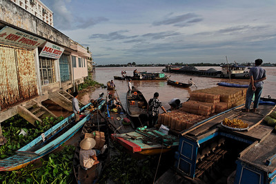 The Mekong - Vinh Long Market, Vietnam, August 2006