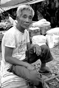 Market seller - Pa Tan market,  Vietnam, July 2006