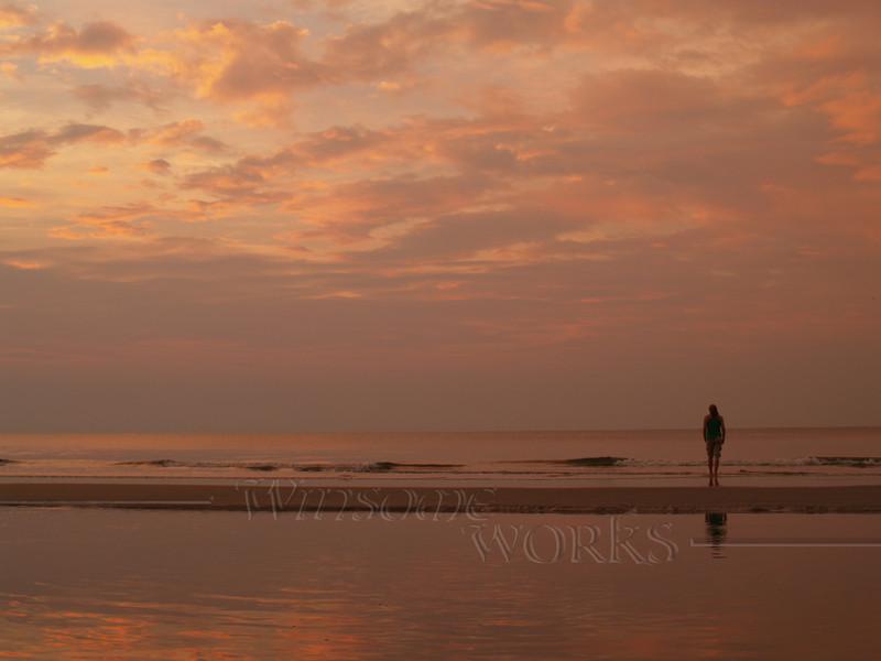 #40-  Lydia in Sunrise at Hunting Island