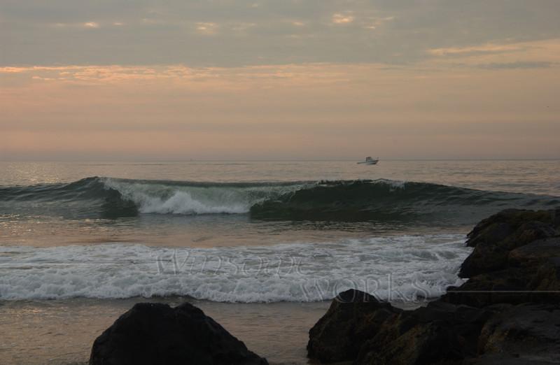 #87 - Ocean Grove Rock Jetty at Dawn II