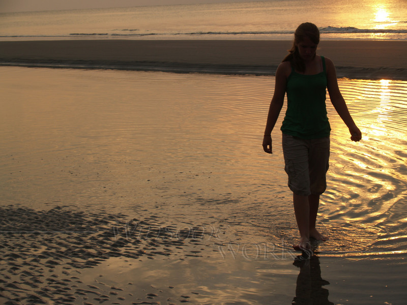 #38 -  Lydia in Sunrise at Hunting Island