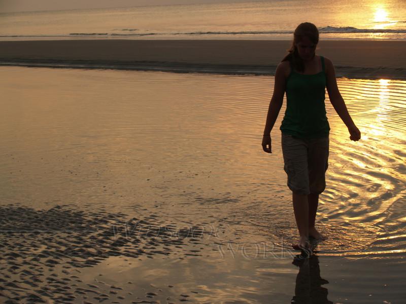 #38 -  Lydia in Sunrise at Hunting Island