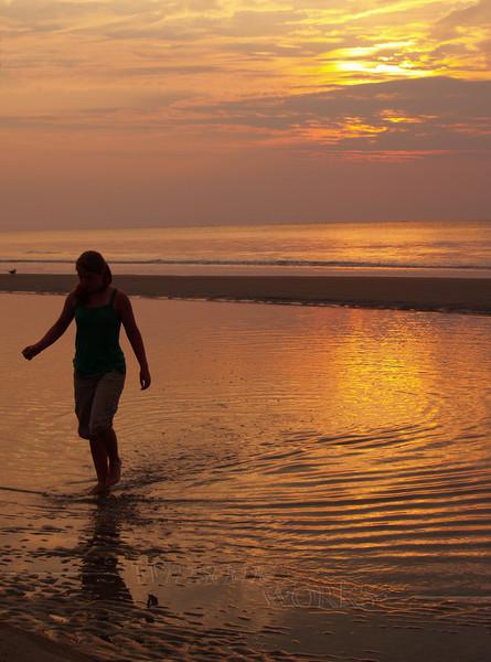 #36 - Lydia in Sunrise at Hunting Island