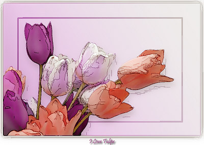 I Love Tulips Art