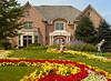Garden and facade of home for client