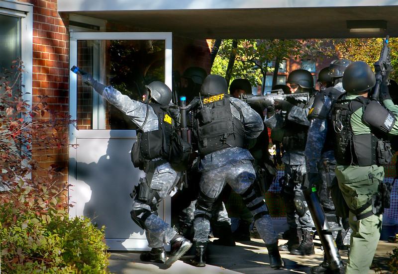 Terrorism drill/Beloit College