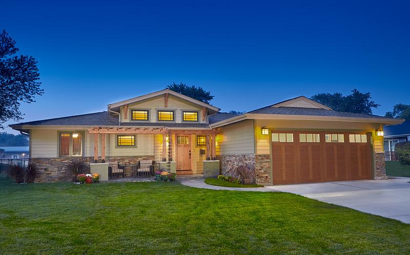 Front  elevation for Distinctive Renovations,   Wojcik + Associates Architects