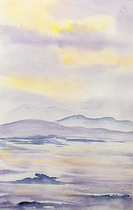 Lavender Seascape