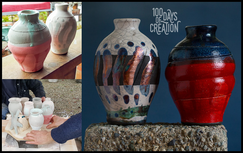 Day 44/100 - Valentines togetherness ~ Raku pottery