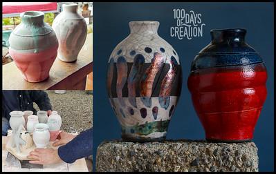 Day 44/100 - Valentines togetherness ~ Raku pottery